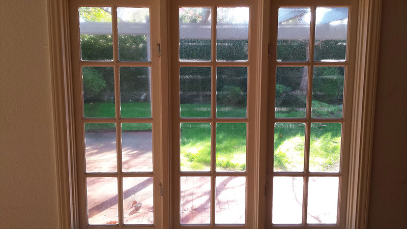 Picture of window before window cleaning in Mission Viejo by Blue Coast Window Cleaning service.