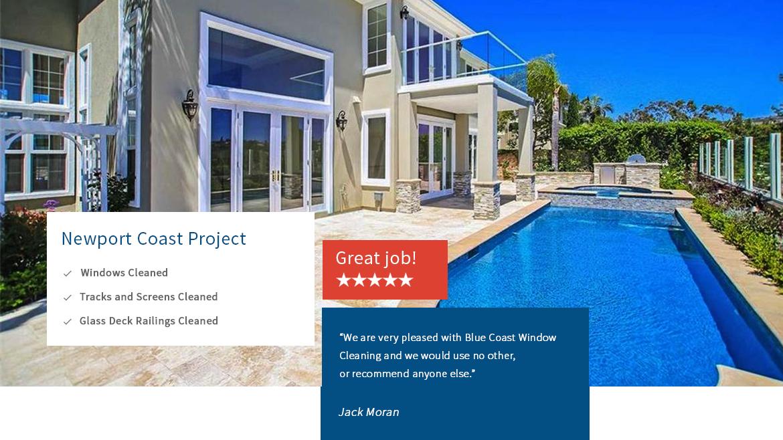 Blue Coast Window Cleaning Newport Coast Testimonials