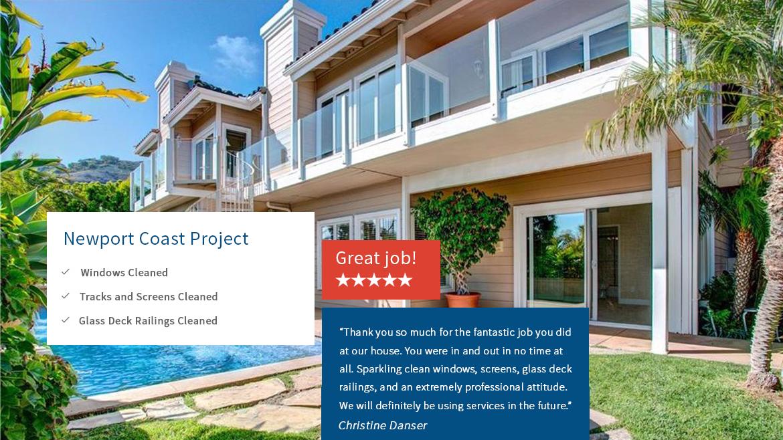 Blue Coast Window Cleaning-Newport Coast Testimonials