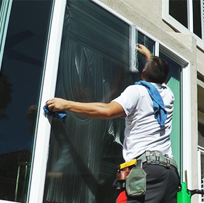 Exterior Window cleaning by Blue Coast Window Cleaning